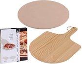 Excellent Houseware Pizza-baksteen - met pizza-schep