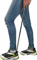 Extra lange schoenlepel XL - 79CM hoog met haak - Stevig RVS roestvrijstaal - Sterk en van hoge kwaliteit!
