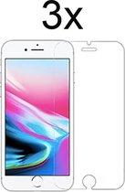 iPhone SE 2020 Screenprotector Glas - Beschermglas iPhone 7 Screenprotector - iPhone 8 Screen Protector - iPhone 6/6s Screenprotector - 3 stuks