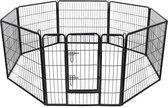 Topmast Premium Puppyren - 100 cm Hoog - 640 cm Omtrek - Hondenren - Hondenhok - Zwart
