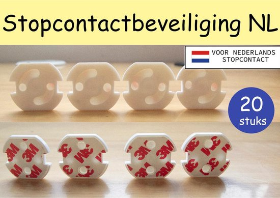 Bellamo®| Stopcontact beveiliging voor Nederland 20stuks| kinderbeveiliging|...
