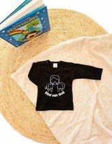 Little Bumpy's   Kind van God   Kinder shirt   De Wonderwolk   Christelijk   Baby   Maat 68   Zwart