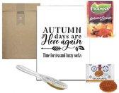 Thee cadeau pakketje herfst - autumn days are here again   cadeaupakket