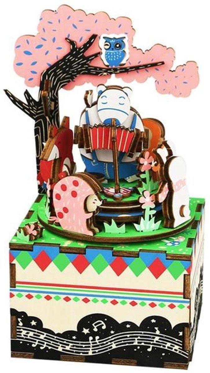 Robotime modelbouwpakket - Music Box Forest Concert