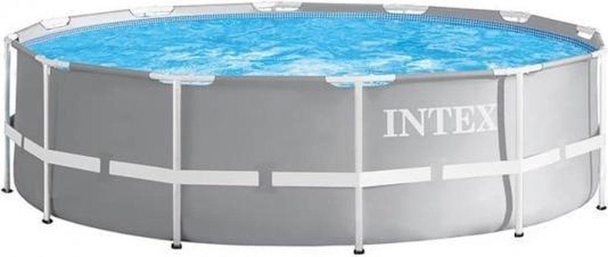 Intex Opzetzwembad - Prism Frame - Ø549 x 122 cm - Grijs - Met accessoires
