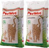 Peewee Houtkorrels Kattenbakvulling - 2 x 9  kg (18 kg, 28l)