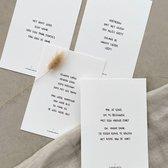 Wenskaarten luxe set van 4 gedichten - Troost/Steun | Poezie Kaartenset Ansichtkaart | Tijdloos cadeau (A6)