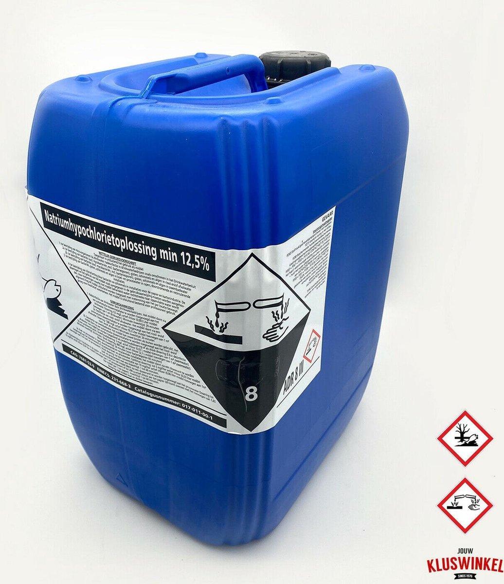 Vloeibaar Chloor 25 liter - Zwembad chloor - Shock chloor - Natriumhypochlorietoplossing 12,5% - Reinigings middel - Zwembad verzorging