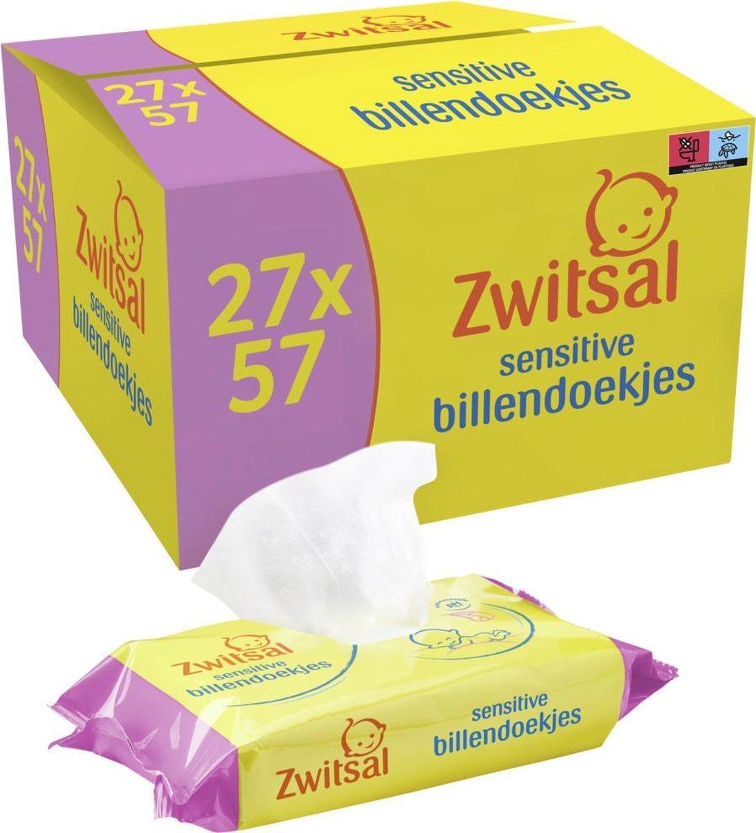 Zwitsal Sensitive Billendoekjes - 1539 billendoekjes - Voordeelverpakking