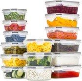 Vershoudbakjes - Meal Prep Bakjes - Lunchbox - Diepvriesbakjes - Vershouddoos - Vershoudbakjes Set - Plastic Bakjes - Voedselcontainer - Magnetron Bakjes Met Deksel - 16 Stuks - BPA vrij - Stosh