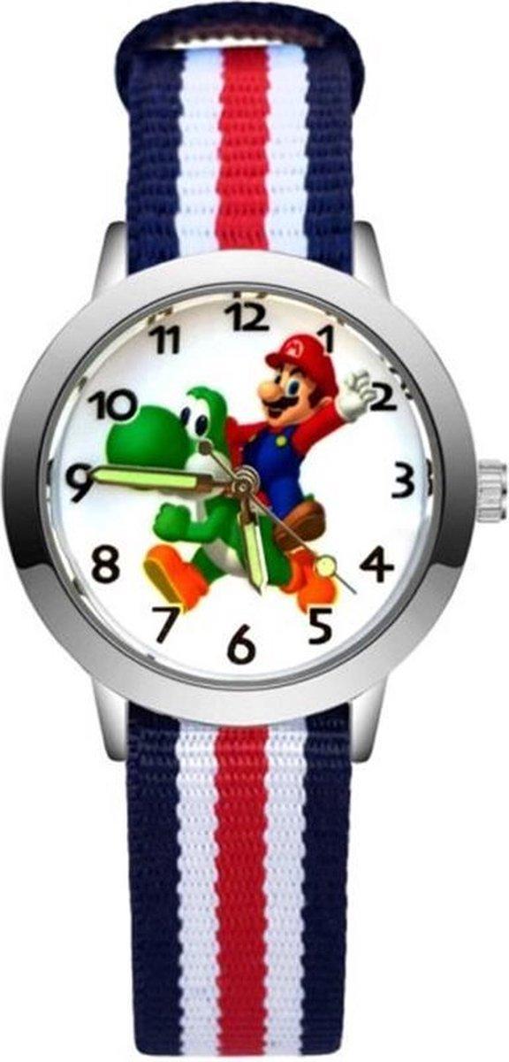 Super Mario - Kinderhorloge - Mario - Horloge - Mario Kart - Mario Speelgoed - 5 Strepen/Yoshi