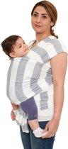 Baby Garden draagdoek gestreept grijs wit   ergonomisch