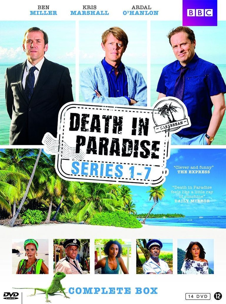 Death In Paradise Box Serie 1-7 - 14 Dvd Monsterbox