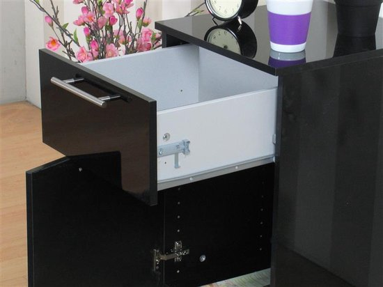 Tvilum Infiniti - Nachtkastje - zwart hoogglans - Set van 2