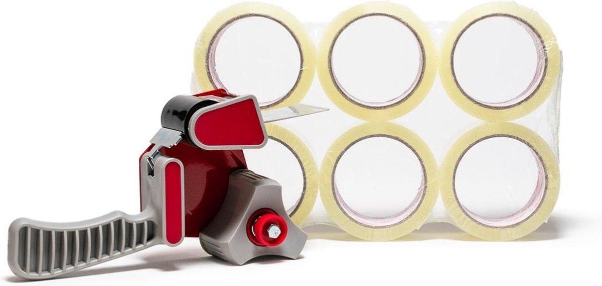Profipack ACTIE: Tape dispenser + 6 rollen transparante tape