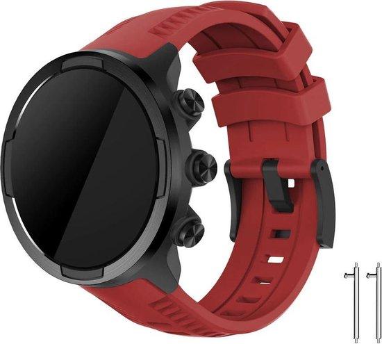 Siliconen Horloge Band Voor Suunto 9 / Spartan Sport Wrist HR Baro - Armband / Polsband / Strap Bandje / Sportband - Rood