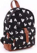 Kidzroom Black & White Kinderrugzak - 6,4 l - Zwart - Black/Heart