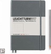 Leuchtturm1917 Notitieboek Antraciet - Medium - Puntjes