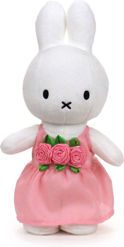 """nijntje roze rozenjurk knuffel - 24 cm - 9,5"""""""