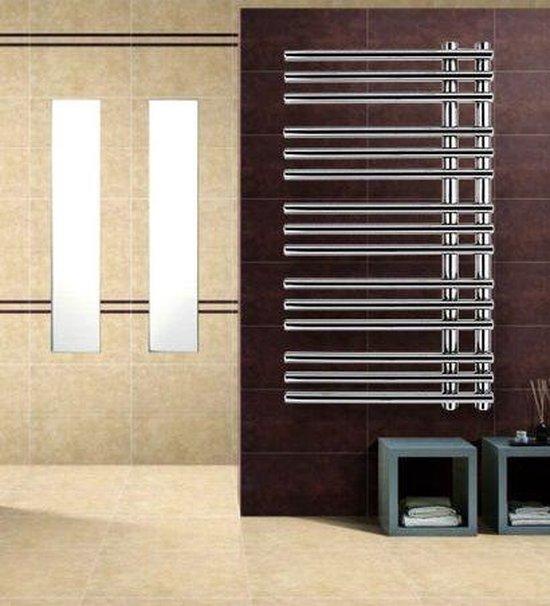 Bol Com 600watt 125 X 50 Cm Chrome Elektrische Handdoek Radiator Quality Heating Af Uc Recht