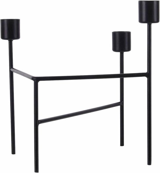 House Doctor Kandelaar Three zwart 15 x 13,5 x 18,5 cm