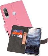 Wallet Cases Hoesje voor Samsung Galaxy A8s Roze