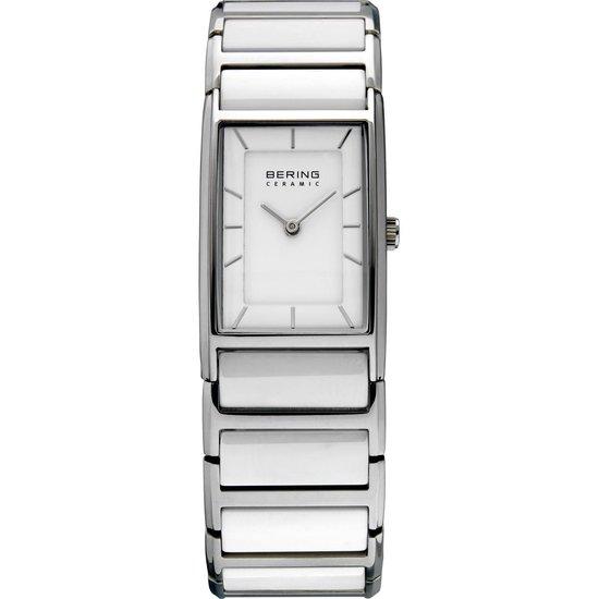 BERING Ceramic 30121-754 - Horloge - Staal | Keramiek - Zilverkleurig | Wit - Ø 21 mm