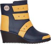 Nokian Footwear by Julia Lundsten - Rubberlaarzen -Strap Wedge- (Originals) donkerblauw/oranje, maat 35 [SW130-74-35]