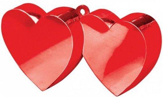 Ballon gewichtje rode hartjes