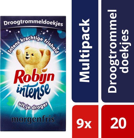 Robijn Intense Droogtrommeldoekjes - 9 x 20 stuks - Voordeelverpakking