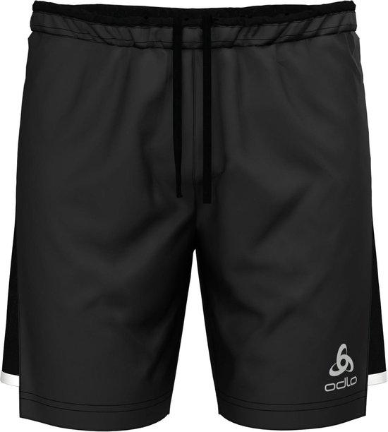 Odlo Hardloopbroek Zeroweight Ceramicool 2-In-1 Shorts - Black - M