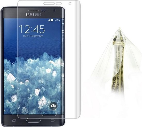 0.1mm explosieveilige zachte Full Screen Protector voor Galaxy Note Edge / N9150