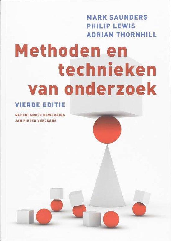 Methoden En Technieken Van Onderzoek - Saunders Mark  