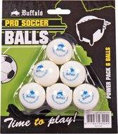 Buffalo Pro Tafelvoetbal balletjes - 6 stuks - wit