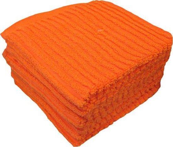 Vaatdoeken Suus - Vaatdoek 30x30 cm - Oranje - 6 stuks