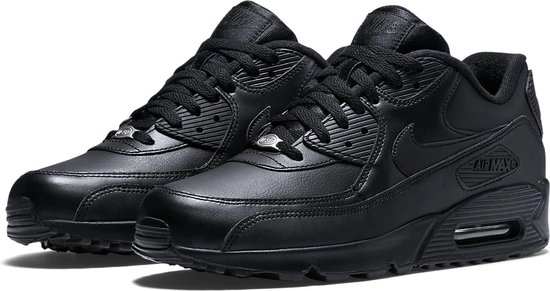 Nike Air Max 90 Leather Sportschoenen - Maat 43 - Mannen - zwart