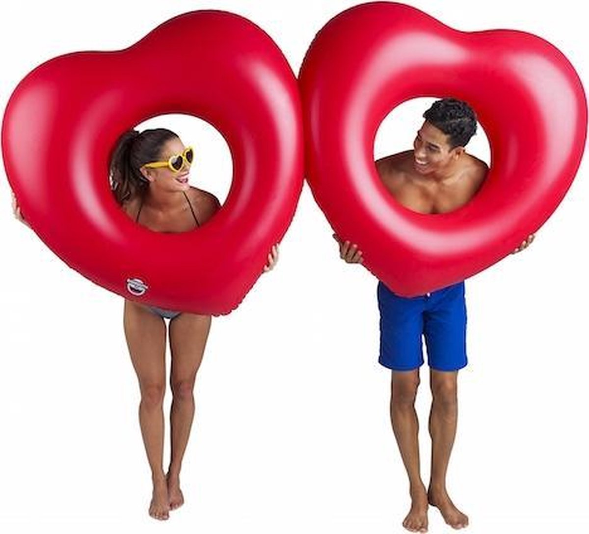 2 Harten Pool Float - Pool Float Two of Hearts - Big Mouth grote opblaas zwemband - 180 cm.
