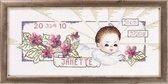 Permin geboortetegel Janette 12 8656,  borduurpakket geboorte meisje