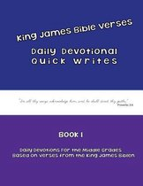 Daily Devotional Quick Writes for Middle Grades