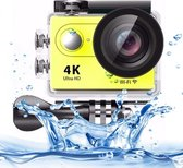 H9 4K Ultra HD1080P 12MP 2 inch LCD scherm WiFi Sport Camera  170 graden brede hoeklens  30m Waterdicht(geel)