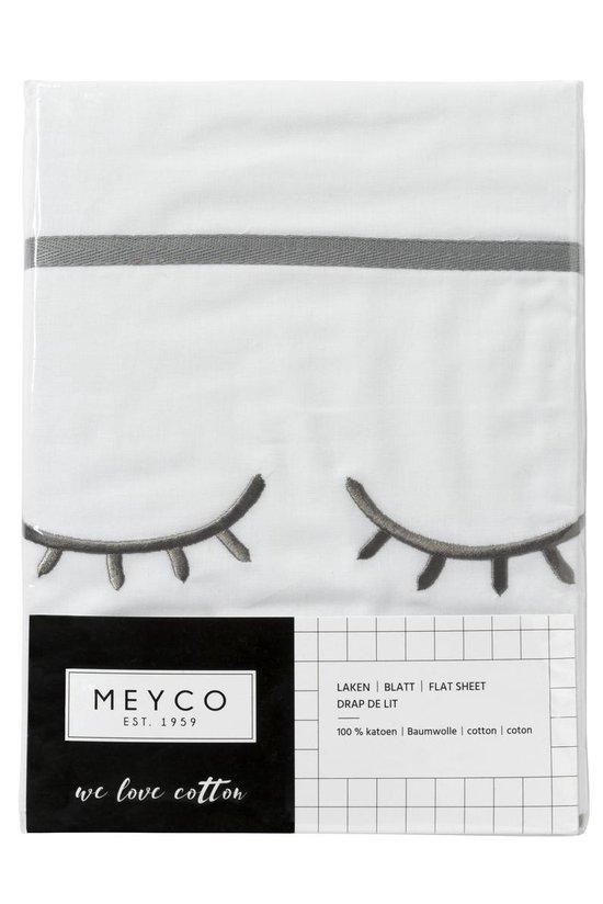 Meyco wieglaken Sleepy eyes - 75 x 100 cm - grijs