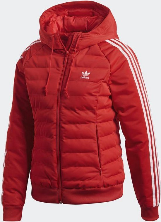 | adidas Slim Jacket Sportjas Dames Real Red
