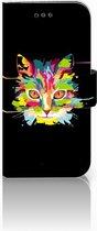 Samsung Galaxy A3 2017 Uniek Bookcase Hoesje Cat Color