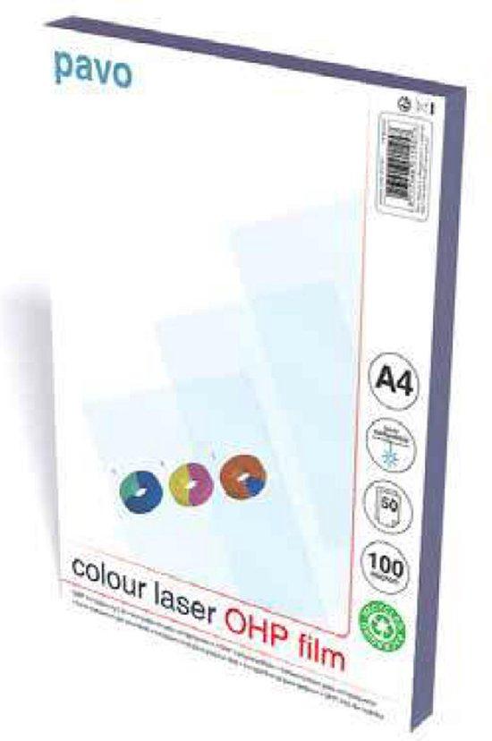 Afbeelding van Overheadsheets A4 OHP Folie color laser printer - 100 mic - transparant - 50 stuks
