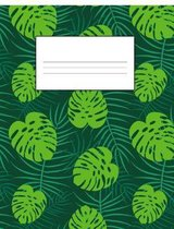 Tropical Hawaiian Monstera and Palm Leaves School Supplies