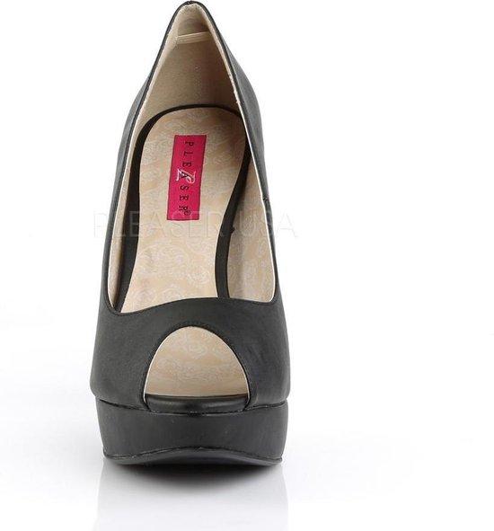 Pleaser Pink Label Pumps -45 Shoes- Chloe-01 Us 14 Zwart NwOlZM