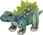 Pluche gekleurde stegosaurus knuffel 30 cm - Stegosaurus dino knuffels - Speelgoed voor baby/kinderen