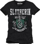 HARRY POTTER - T-Shirt Slytherin School - Grey (XXL)