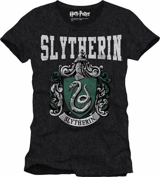 HARRY POTTER - T-Shirt Slytherin School - Grey (XXL)