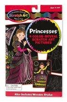 Color-Reveal Pictures-Princess: Scratch Art Boards